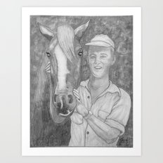 Paul And His Trusty Steed Art Print