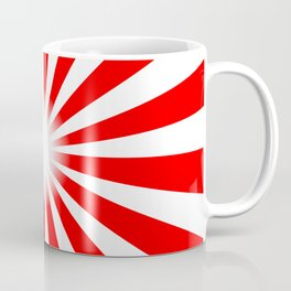 Red And White Bright Ray Background Coffee Mug