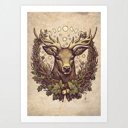 Cernunnos Stag Art Print