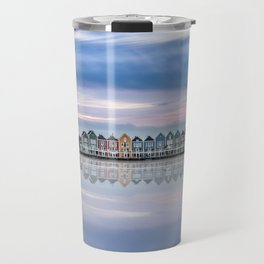 Rainbow houses in Netherlands Travel Mug