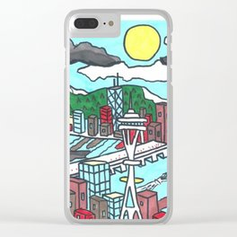 Seattle Daytime Clear iPhone Case