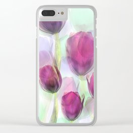 Tulip Fever Clear iPhone Case