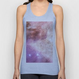 Trendy girly pink elegant nebula cosmology galaxy Unisex Tank Top
