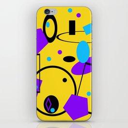 Retro abstract print yellow iPhone Skin