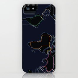 Rail Map of the World (Night) iPhone Case