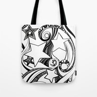 starry night Tote Bags featuring Starry starry night by OhMyDodd Designs