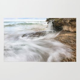 Elliot Falls on Miners Beach - Pictured Rocks, Michigan Rug