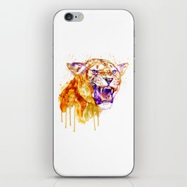 Angry Lioness iPhone Skin