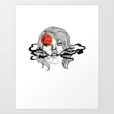 O-Face Art Print