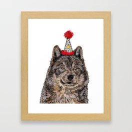 Wolf Party Framed Art Print