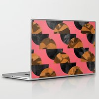 black and gold Laptop & iPad Skins featuring gold,black by Georgiana Paraschiv