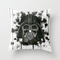 dark side Throw Pillows featuring Dark side by Gilles Bosquet