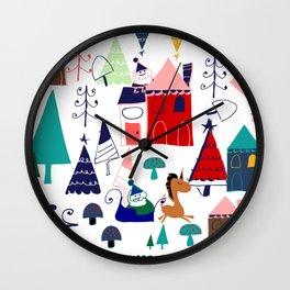 Christmas unicorn Wall Clock