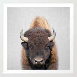 Buffalo - Colorful Art Print