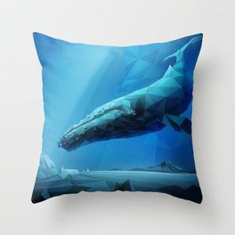 Leviathan (Blue) Throw Pillow
