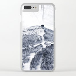Vermont Ski Slopes Clear iPhone Case