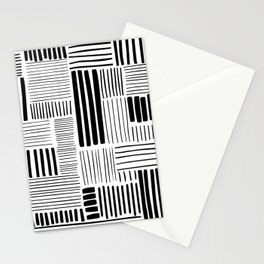 Black and White Abstract Pattern Stationery Cards