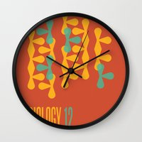 biology Wall Clocks featuring Biology 12 by lynseycreative