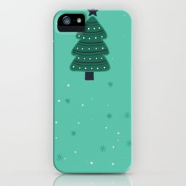May Your Days Be Merry And Bright Christmas Tree Print iPhone Case