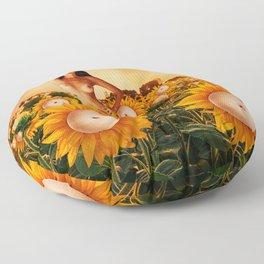 Quiverish Sunflowers Floor Pillow
