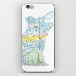 Wolf Sunrise iPhone Skin