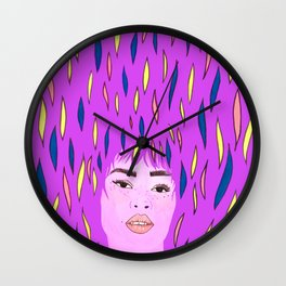 Color woman Wall Clock