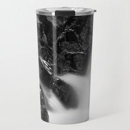 Shelving Rock Stream - Black & White Travel Mug