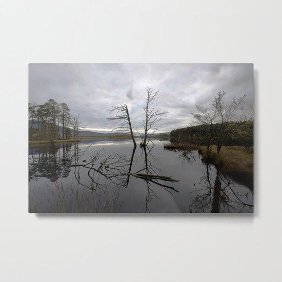 Still Water at Loch Mallachie Metal Print