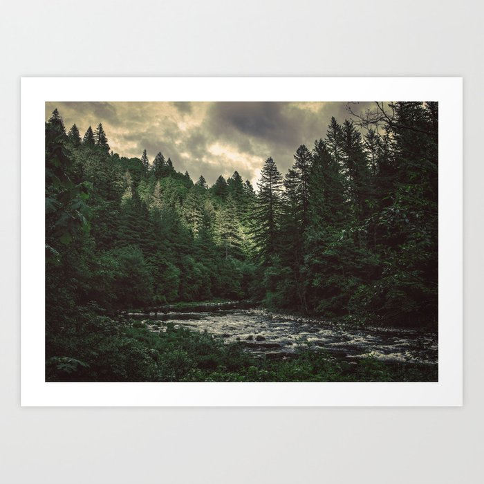Pacific Northwest River - Nature Photography Kunstdrucke