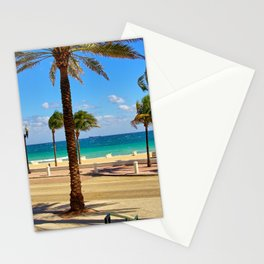 Fort Lauderdale Promenade and Beach, Florida Stationery Cards