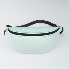 Elegant white and mint mandala confetti design Fanny Pack
