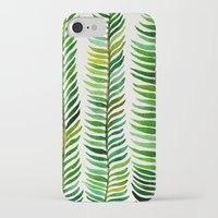 silver iPhone & iPod Cases featuring Seaweed by Cat Coquillette