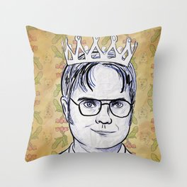 Dwight K. Schrute, King Of Beets Throw Pillow
