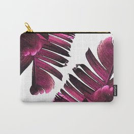 Banana Leaf - Tropical Leaf Print - Botanical Art - Modern Abstract - Violet, Purple, Magenta, Lilac Carry-All Pouch