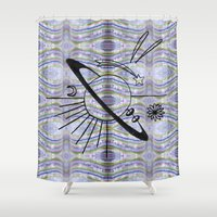 planet Shower Curtains featuring Planet by TAG Théo Audoire Galerie