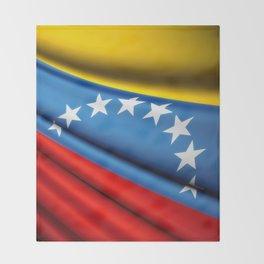 Flag of Venezuela Throw Blanket