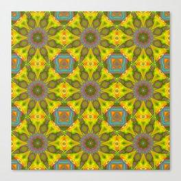 Abstract Flower Pattern AAA RRR Canvas Print