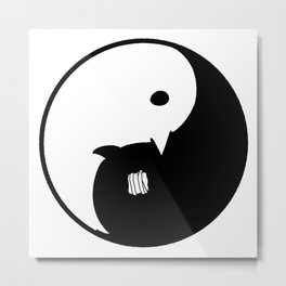 Goodnight / Oyasumi Punpun - Yin Yang Metal Print