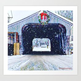 Vermont Covered Bridge Sugabush Art Print