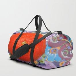 tangerine on a plate Duffle Bag