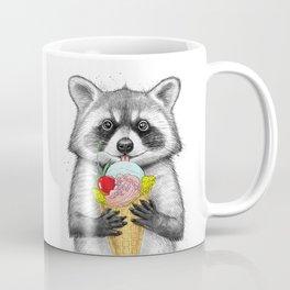 raccoon with ice cream Coffee Mug