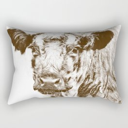 Ardnamurchan Coo - Brown Rectangular Pillow