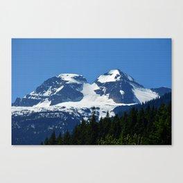 Twin Summits - Glacier Natnl Park Mountains, BC, Canada Canvas Print