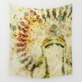 Native American Boho Headdress Wall Tapestry