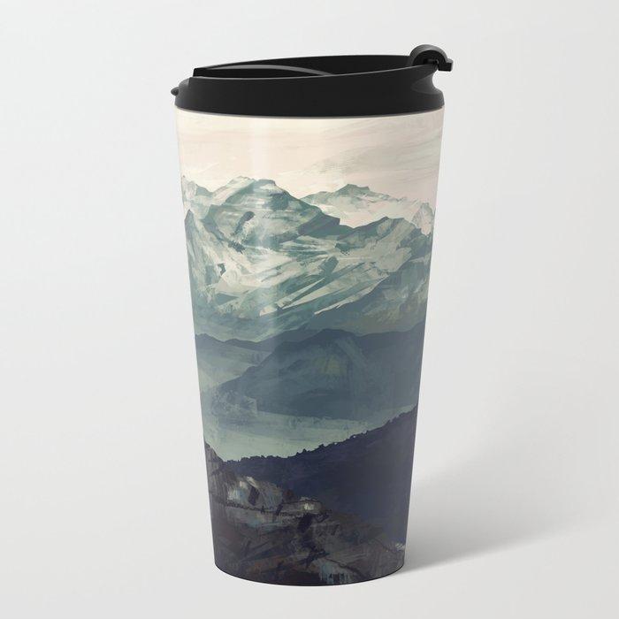 Mountain Fog Metal Travel Mug