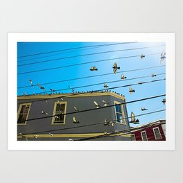 Doves and Wire#3 Art Print