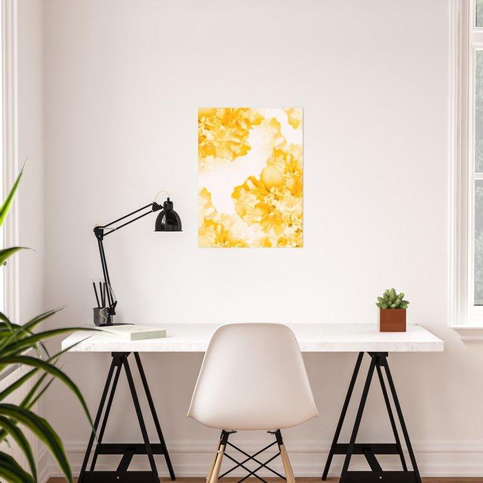 Beautiful Peony Flowers White Background #decor #society6 #buyart Poster