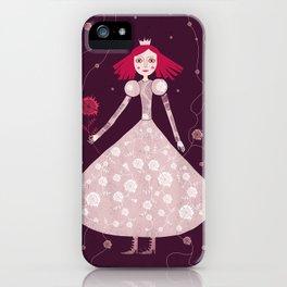 queen claret-pink iPhone Case