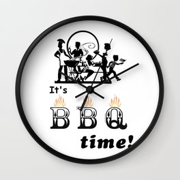 Barbecue Party Time Wall Clock