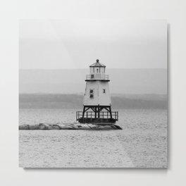 The Grand Lighthouse - Hamptons Style Metal Print